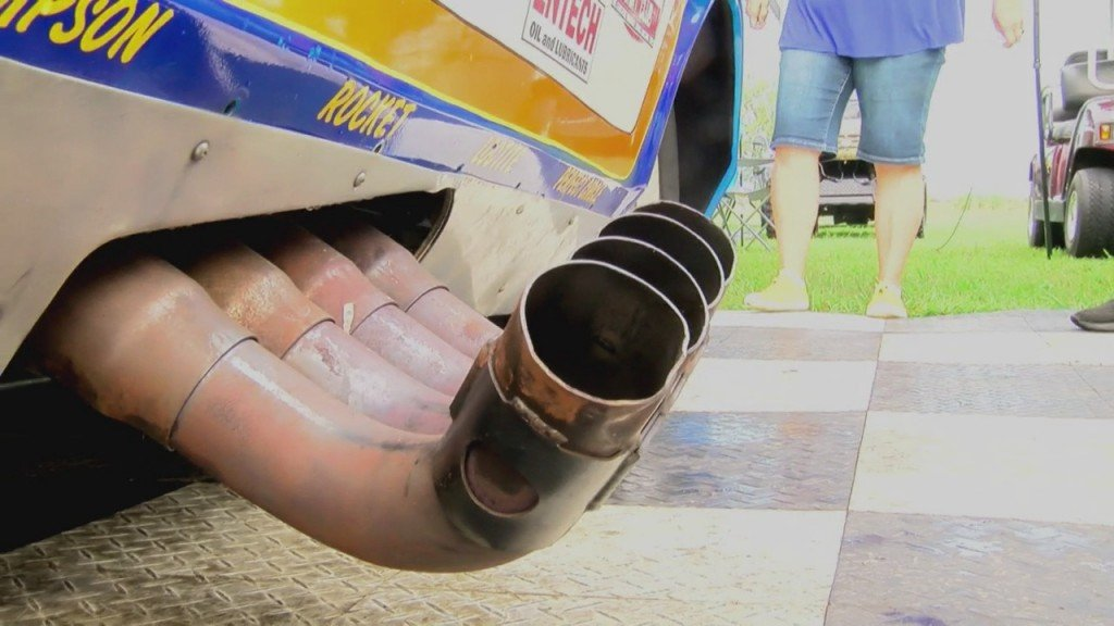 Funny Car Exhaust