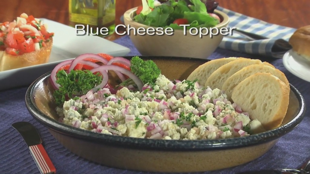 Mr. Food: Blue Cheese Topper