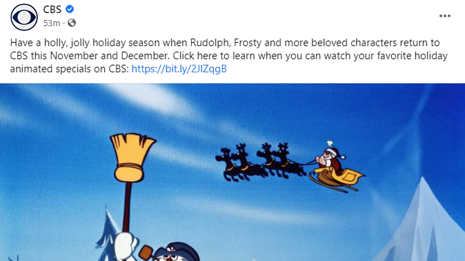 Cbs Facebook Post, Holiday Shows