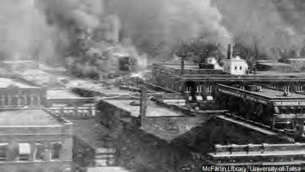 Destruction From The 1921 Tulsa Race Riot, Photo Date 611921