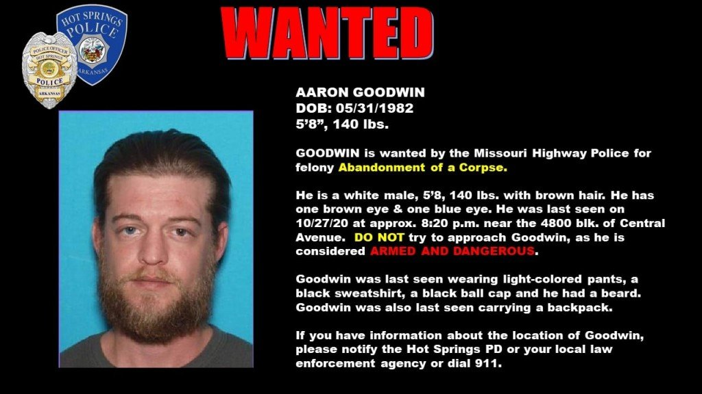 Goodwin, Aaron Wanted Poster