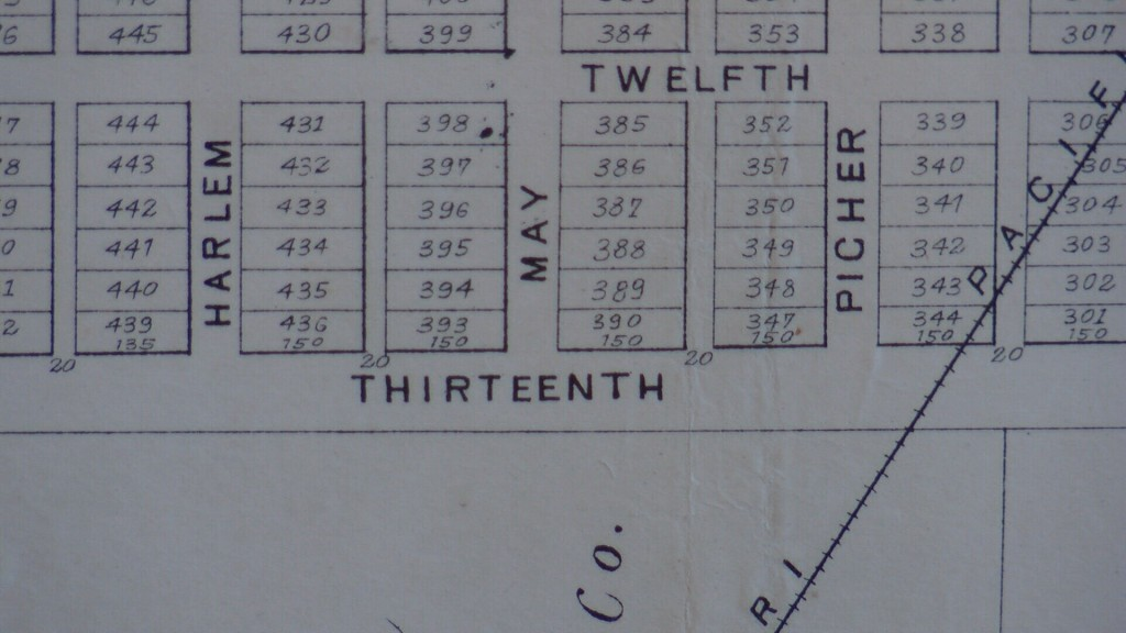 Old Joplin Map With 13th Street