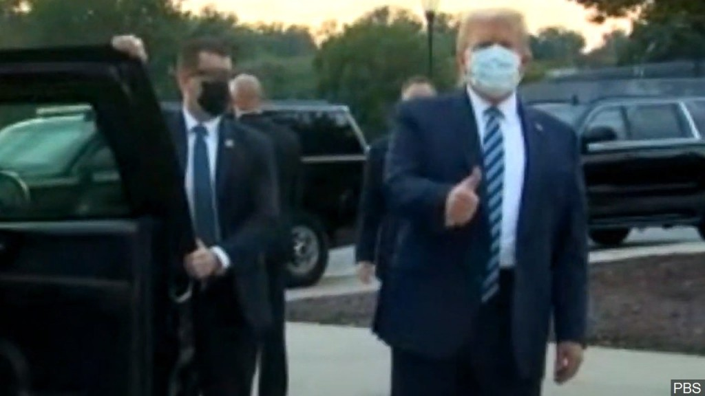 President Trump Leaves Walter Reed Medical Center To Return To The White House