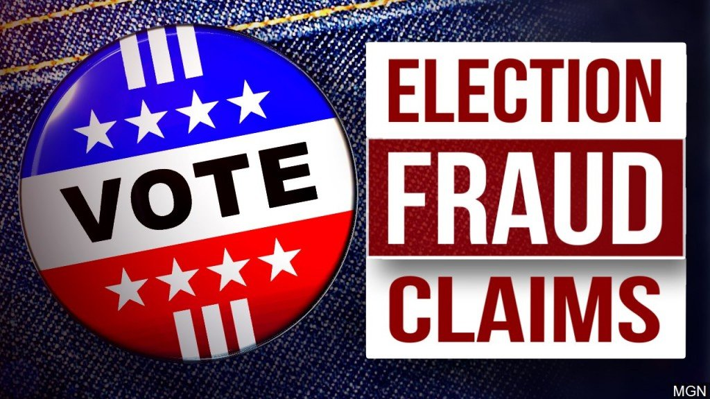 Vote Button, Election Fraud Claims Graphic, Mgn Image