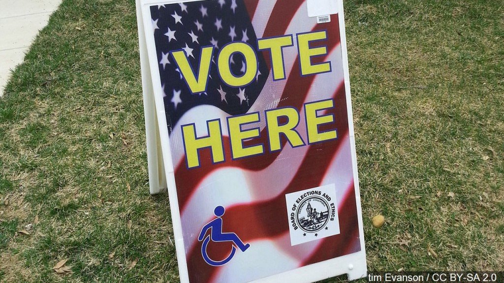 Vote Here Sign, Mgn Image