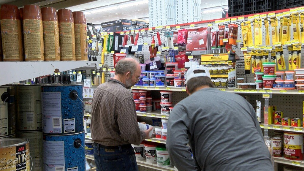 Customers In A Hardware Store