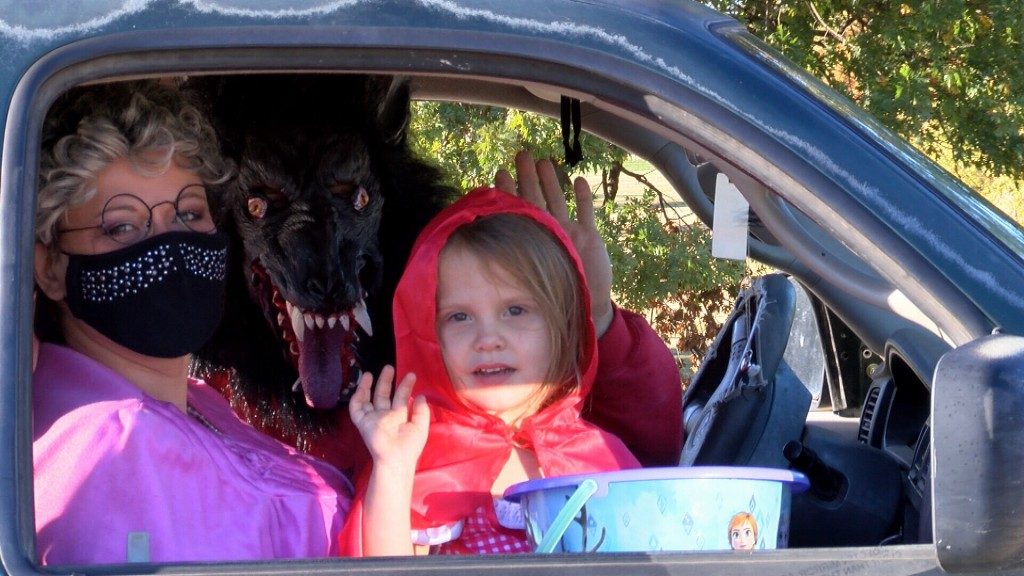 Little Girl In Red Riding Hood Costume