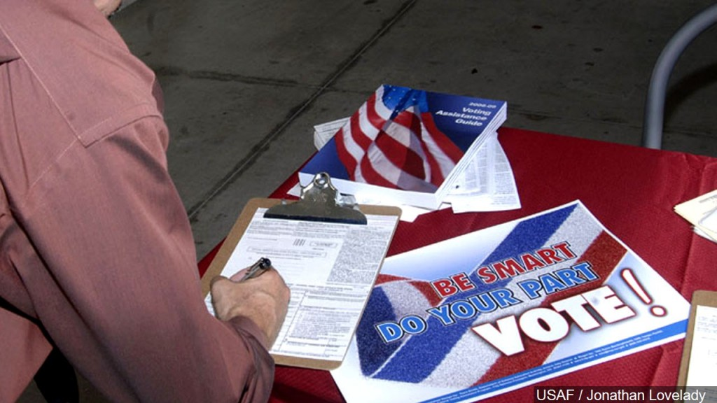 Man Registering To Vote, Mgn Image