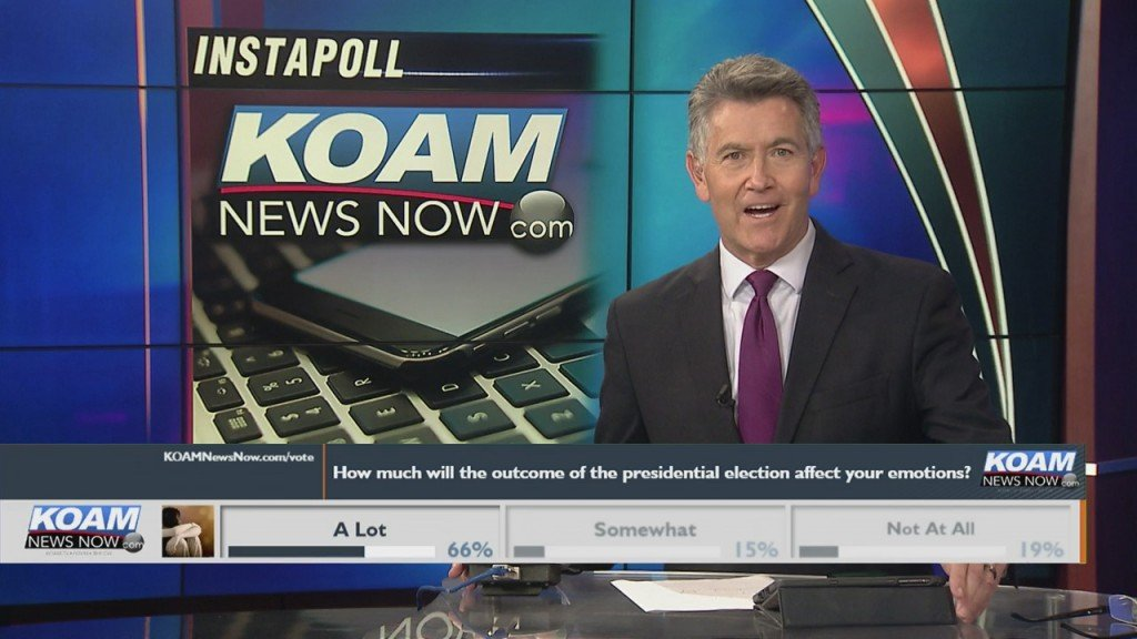 """Koam News Now Instapoll: """"how Much Will The Outcome Of The Presidential Election Affect Your Emotions?"""""""