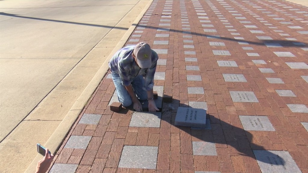 New Pavers Installed At Psu Veteran's Memorial