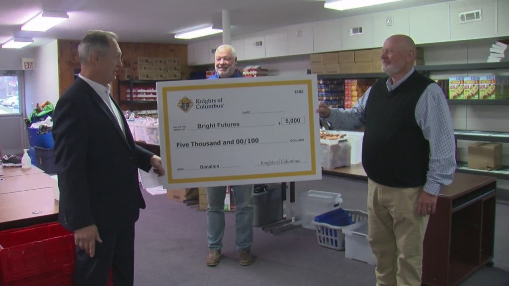 Knights Of Columbus Present Check To Carthage Bright Futures