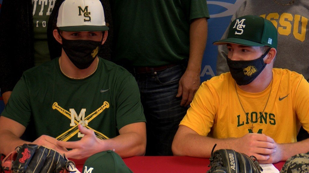 Cole Gayman and Treghan Parker sign to Missouri Southern baseball.