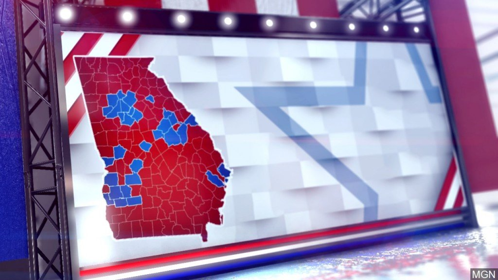 Georgia Votes, Map Graphic
