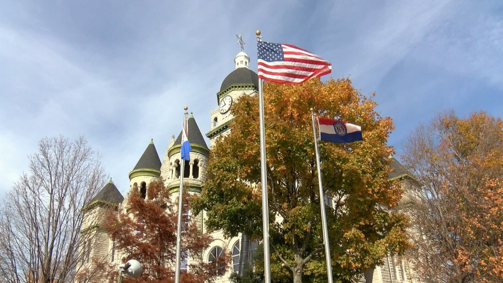 Jasper County Courthouse Flags