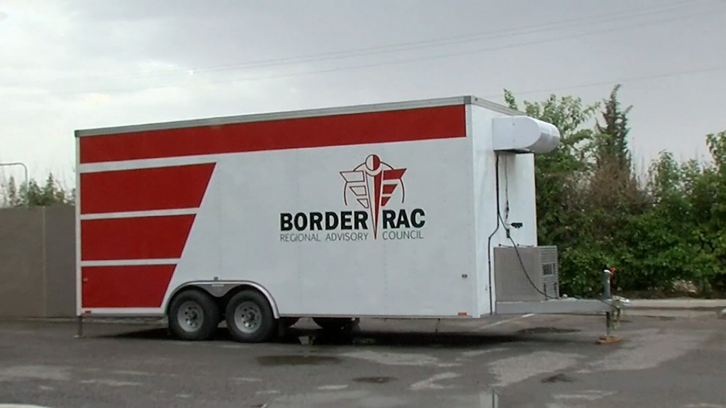A Mobile Morgue Being Used In Texas