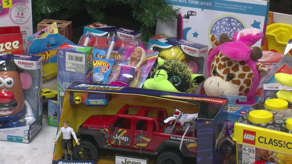 a bunch of donated toys