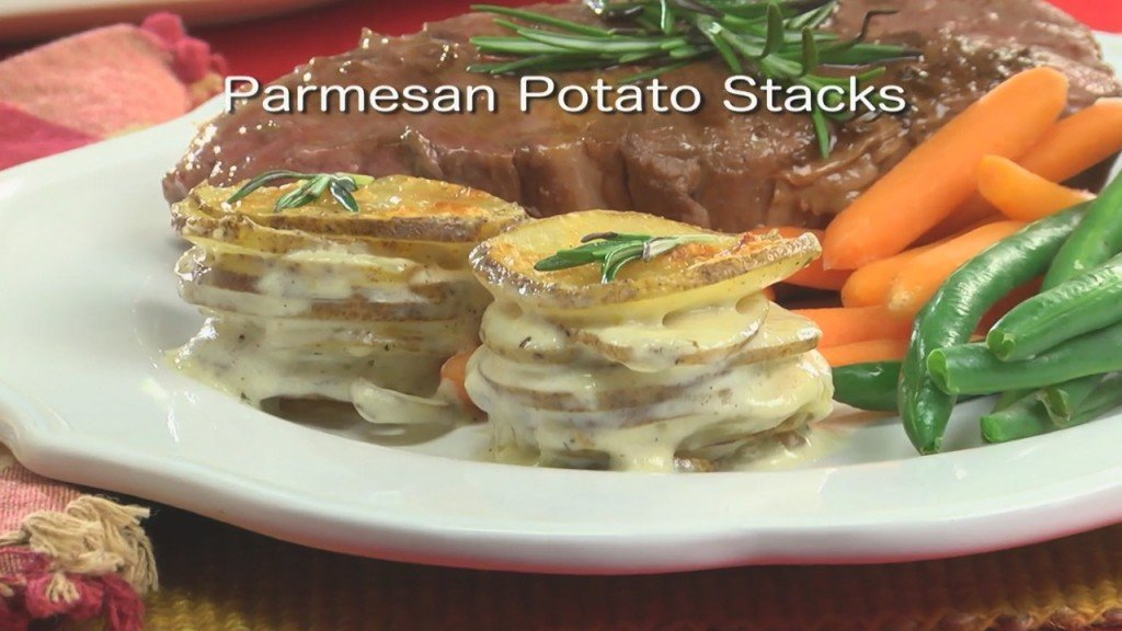 Mr. Food: Parmesan Potato Stacks