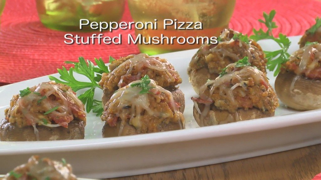 Mr. Food: Pepperoni Pizza Stuffed Mushrooms