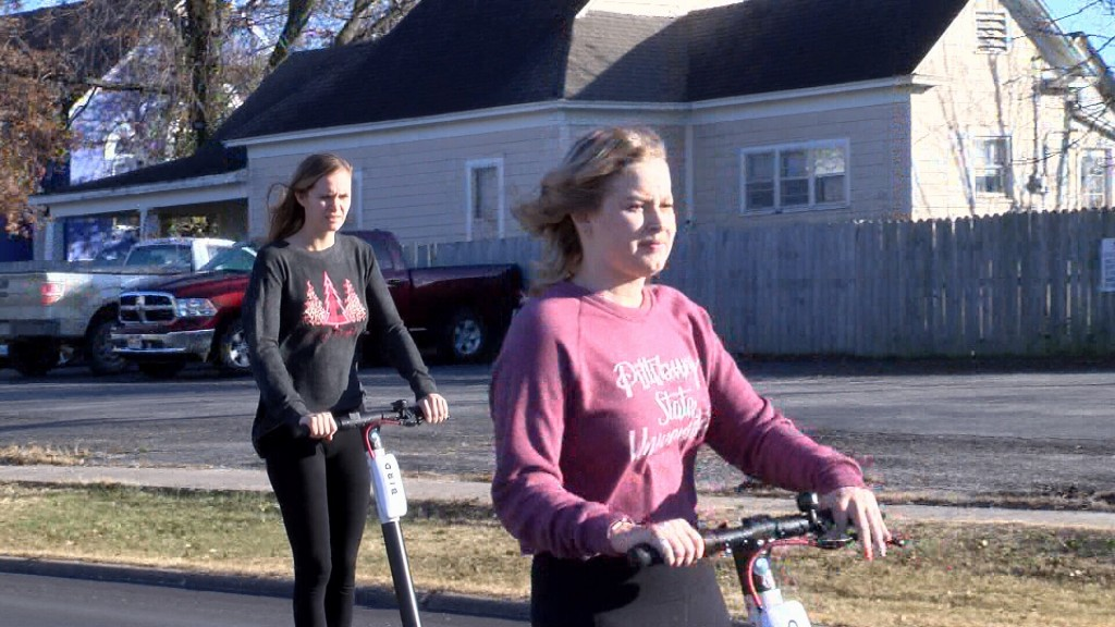 Psu Students Enjoy New Bird Scooters