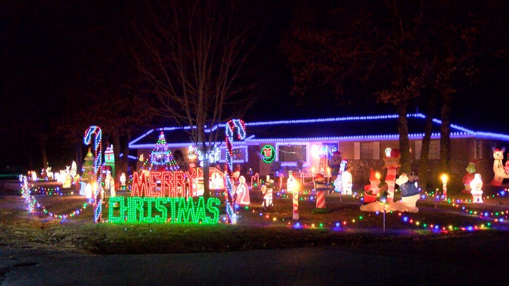 A House With Tons Of Christmas Decorations In Carl Junction