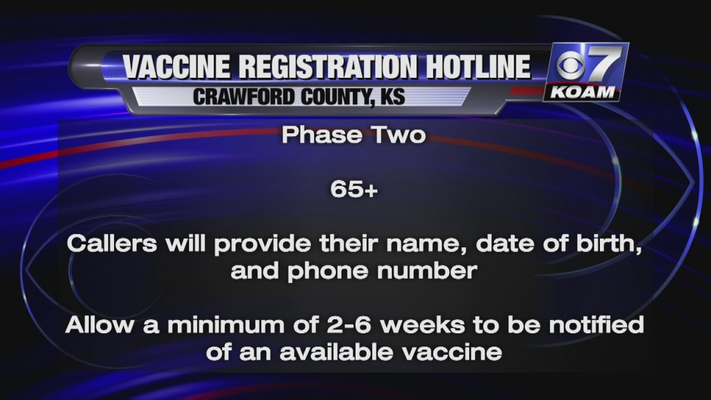 Crawford County Health Department Starts A Vaccine Registration Hotline