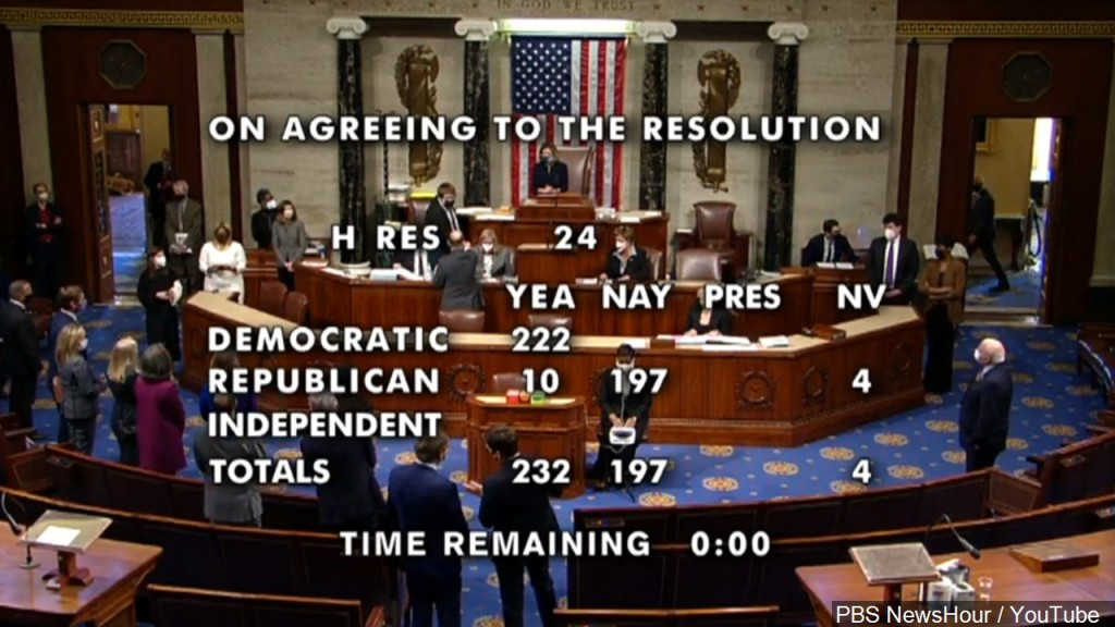 House Votes Impeaching Trump, Mgn 1280x720 10113p00 Namlg