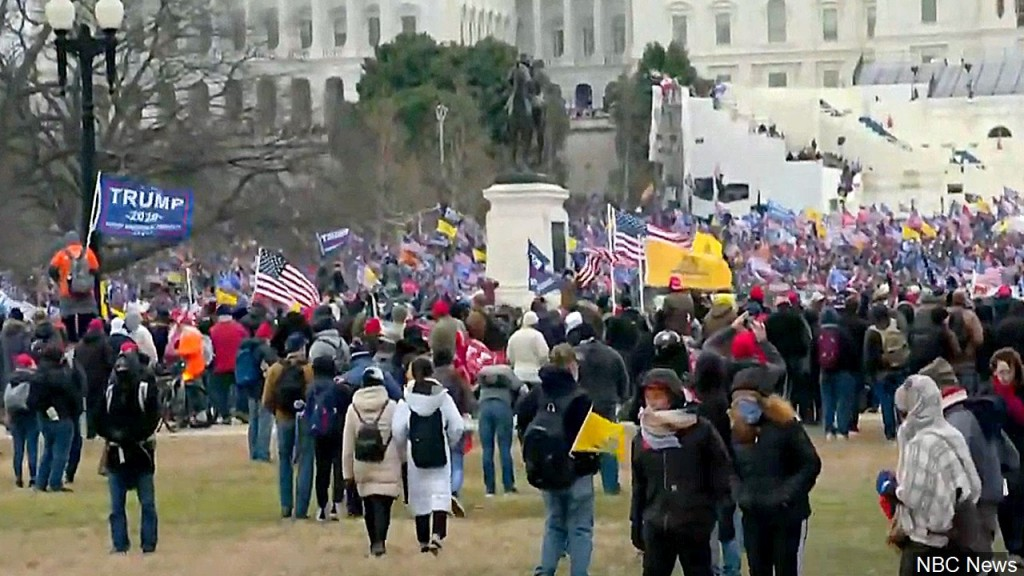 Pro Trump Protesters Rally Outside Capitol In Washington D.c., Photo Date Jan. 6, 2021