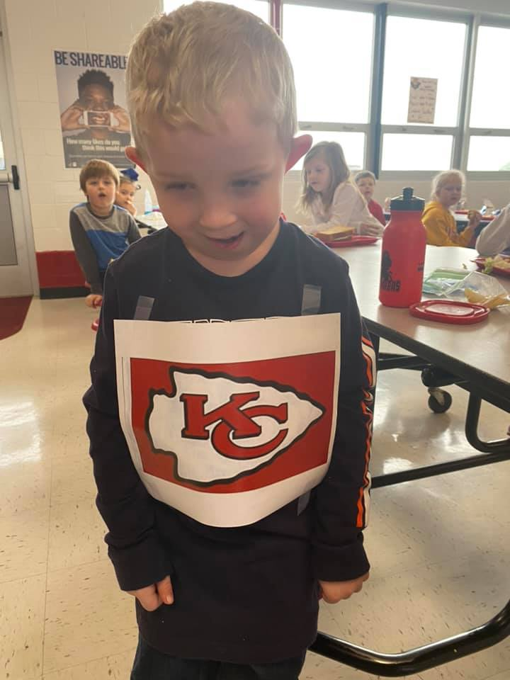 A Young Chiefs Fan Upgrades A Broncos Shirt