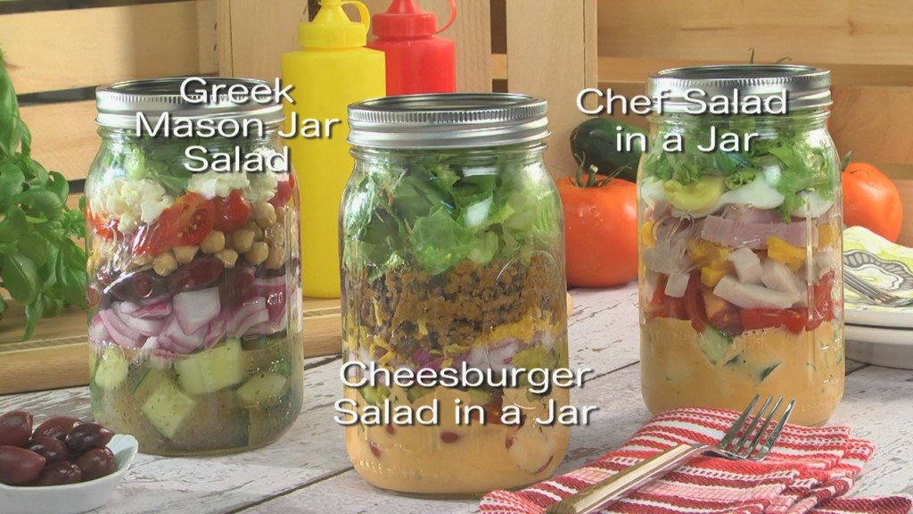 Mr. Food: Cheeseburger Salad In A Jar