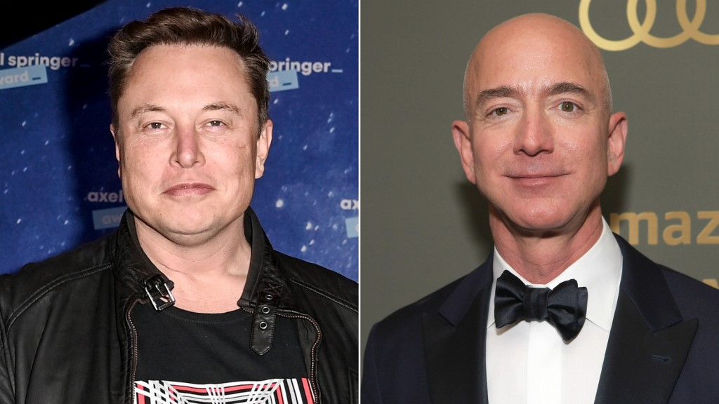 Elon Musk and Jeff Bezos
