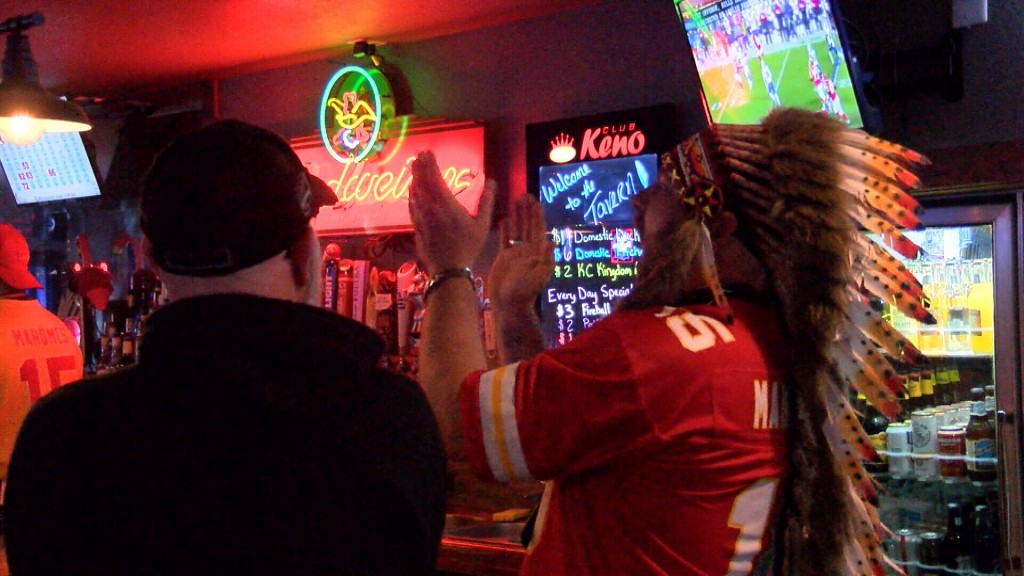 The Owner Of Shirleys Tavern Cheers On The Chiefs