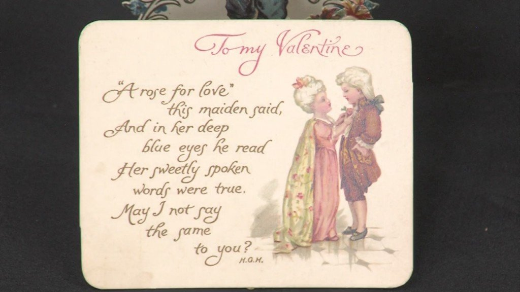 an old valentine's day card