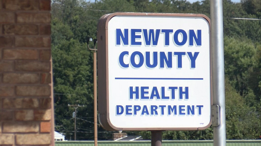 Newton County Health Department Sign