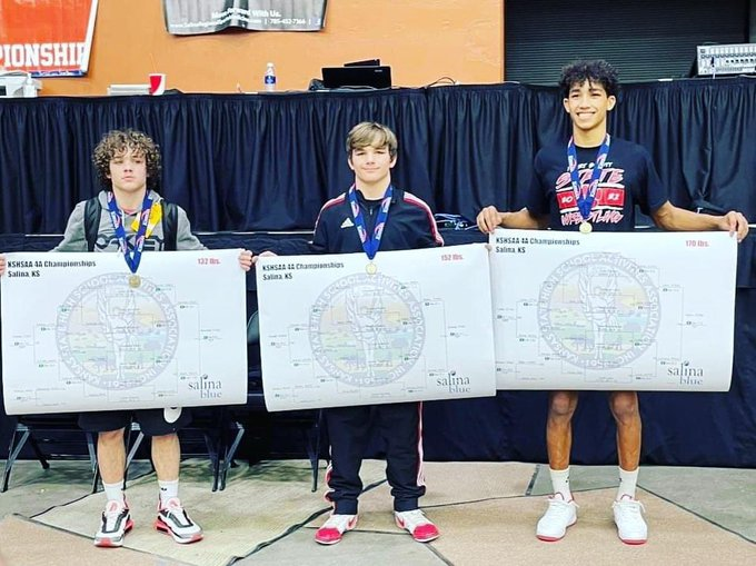 Three Claim Wrestling State Championships For Fort Scott
