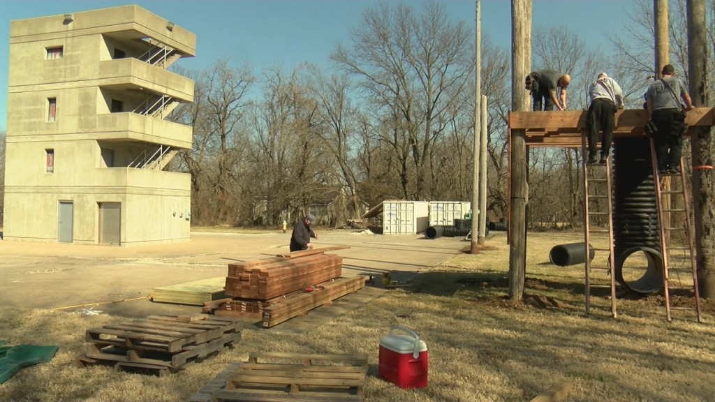 Pittsburg Fire Department Is Building A New Training Tower For Their Firefighters.