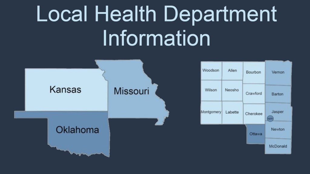 Local State County Map For Health Department Information