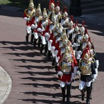 Military Bands Kick Off Prince Philip's Funeral Procession
