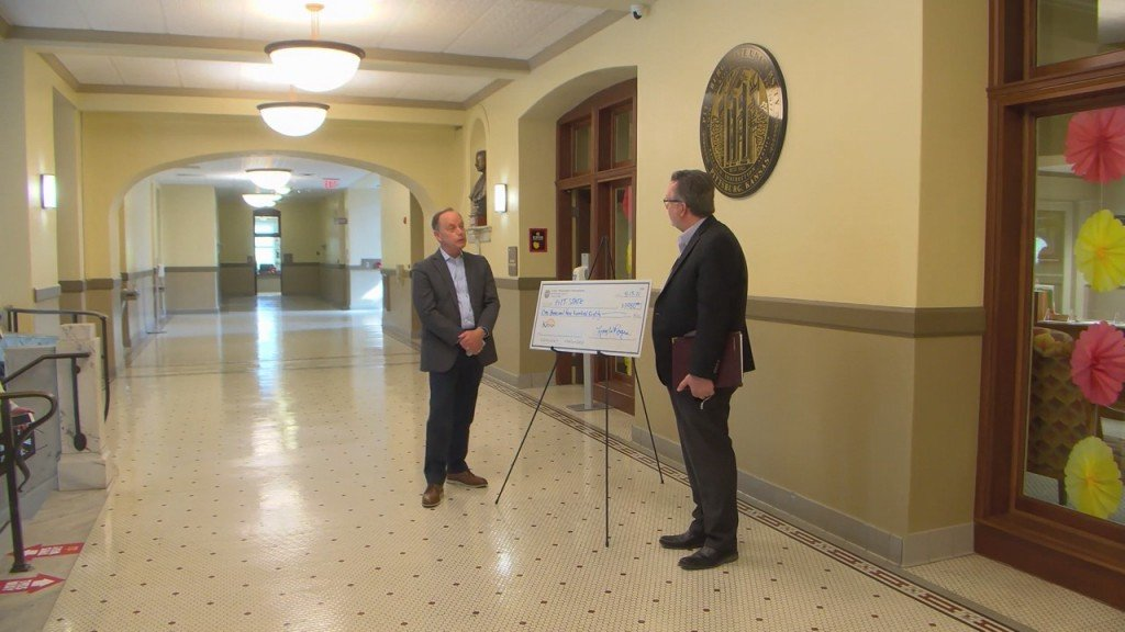 Psu Receives Unclaimed Property Check From The State Treasure