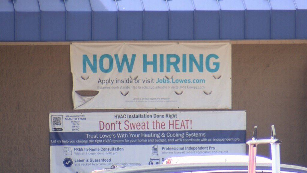 Lowes Now Hiring Sign