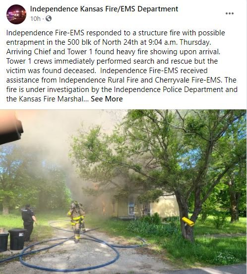Independence Ks Fire And Ems Facebook Post
