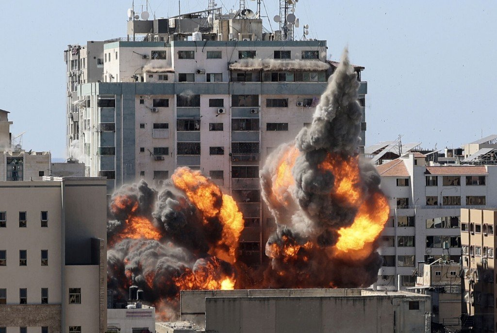 Watch Now: Israeli Strike Destroys Gaza Media Building