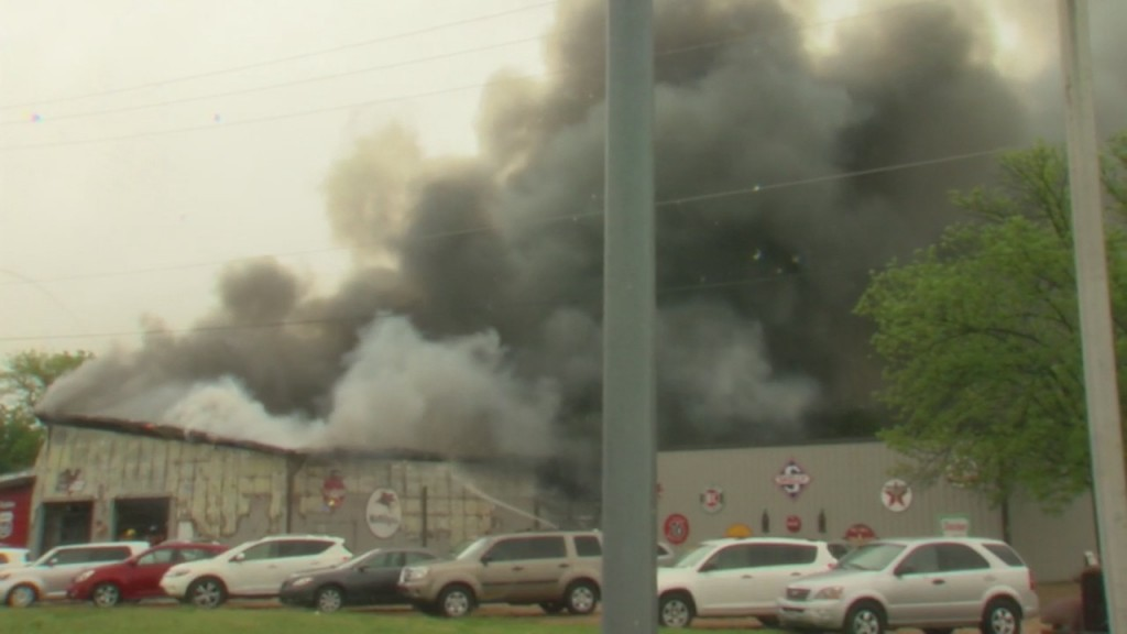 A Fire Breaks Out At A Joplin Business And It's Called In By The Owner Who Witnessed It On His Security Camera