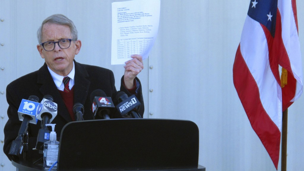Ohio Governor Pitches $1 Million Prizes, College Scholarships To Encourage Vaccinations