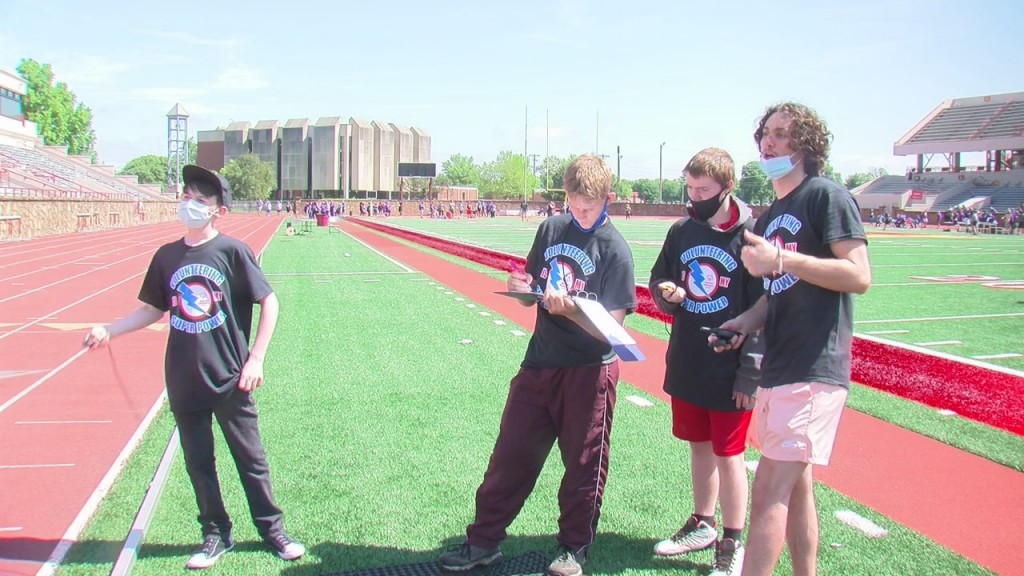 Special Olympics New Hope Hosted A Track And Field Competition In Pittsburg Today.