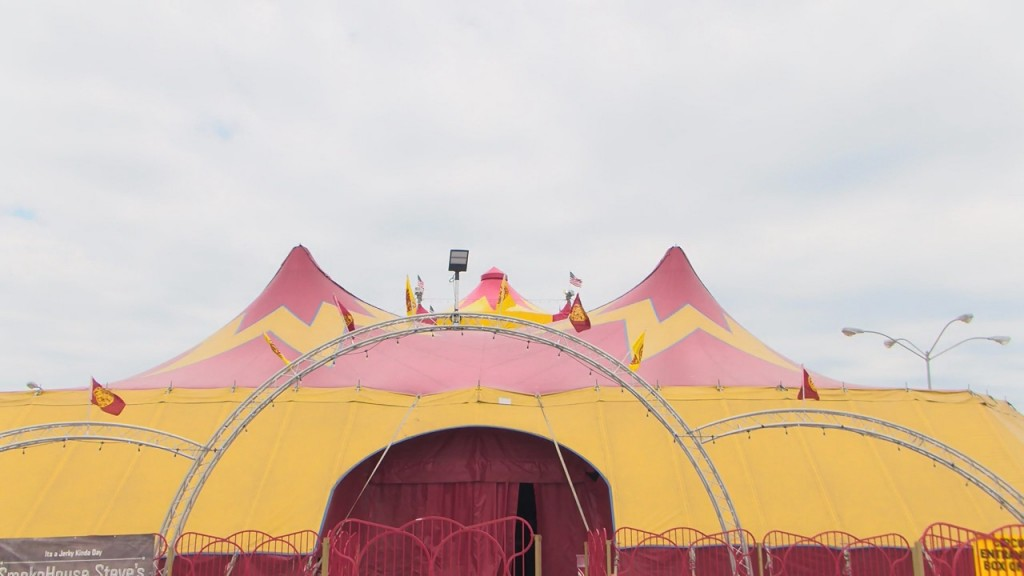 The Tarzan Zerbini Circus big top tent