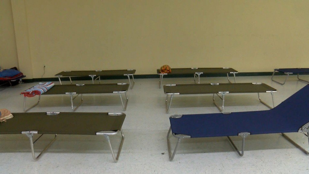 Cots In A Community Safe Room