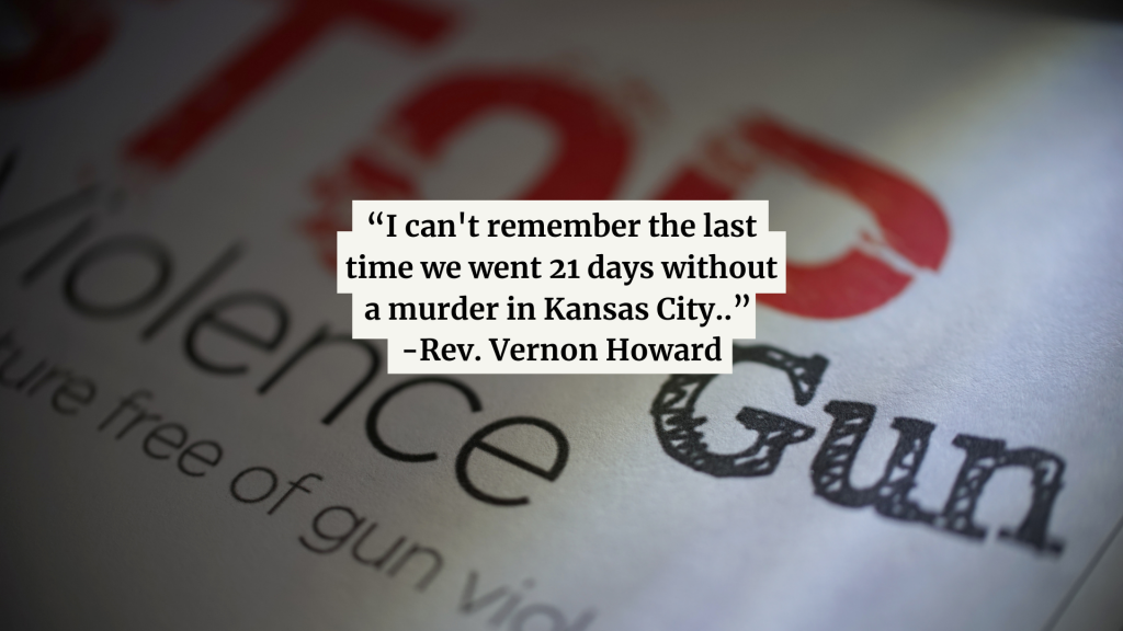 I Cant Remember The Last Time We Went 21 Days Without A Murder In Kansas City Rev Vernon Howard Of Kansas City 2