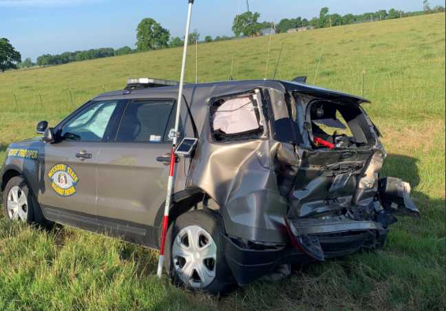 Missouri Highway Patrol Vehicle Damaged By Intoxicated Driver