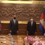 Britain's Fm Meets With Cambodian Officials For Trade Talks