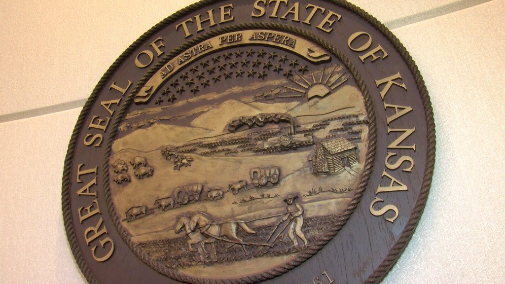Seal Of The State Of Kansas At The Capitol Building